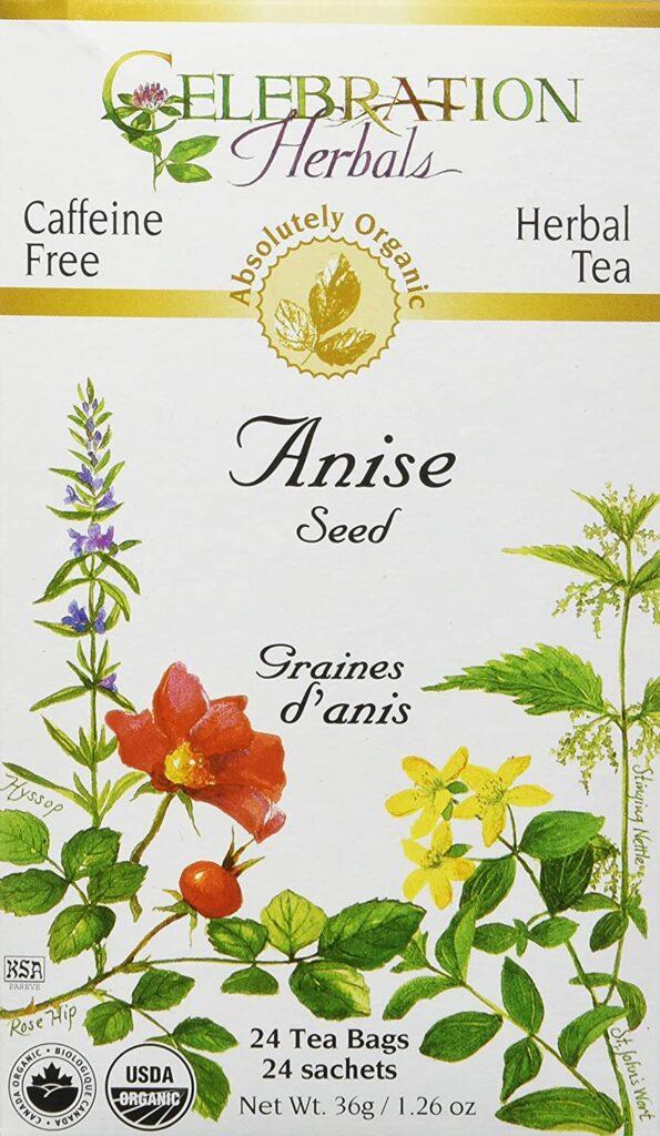 Celebration Herbals Organic Herbal Tea Caffeine Free Anise Seed