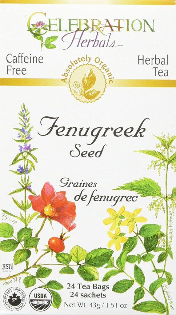 Celebration Herbals Organic Fenugreek Seed Tea Caffeine Free