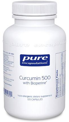 Pure Encapsulations Curcumin 500  with Bioperine®
